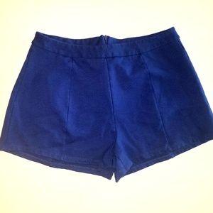 Lush Blue flat front  shorts
